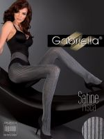 Gabriella Satine Risca Satin Sheen Tights Pinstripe in Grey or Brown